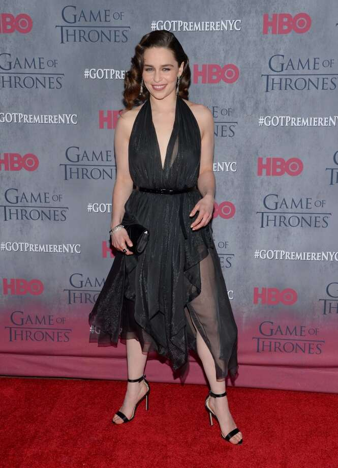 "Actress Emilia Clarke attends HBO's ""Game of Thrones"" fourth season premiere at Avery Fisher Hall on Tuesday, March 18, 2014 in New York. Photo: Evan Agostini, Associated Press"
