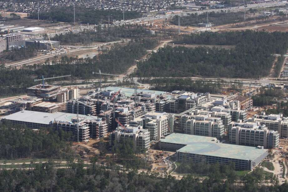 February 2014: The new Exxon Mobil corporate campus near The Woodlands. The new development is near Interstate 45 and the Hardy Toll Road.  Photo: Ben Hafer