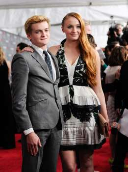 Actors Jack Gleeson and Sophie Turner attend HBO's 'Game of Thrones' fourth season premiere at Avery Fisher Hall on Tuesday, March 18, 2014 in New York. Photo: Evan Agostini, Associated Press