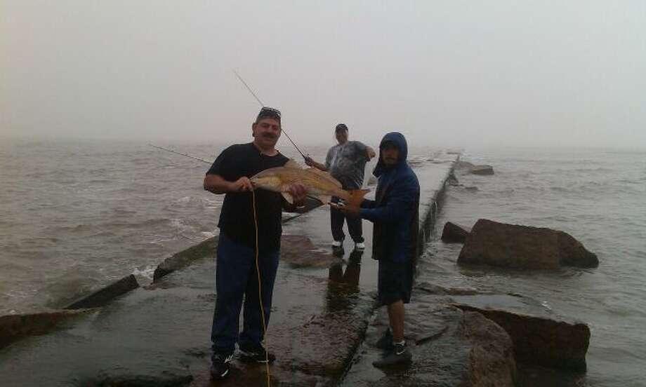 Redfish caught off the Galveston jetties during Mardi Gras. (Dennis Imwalle)