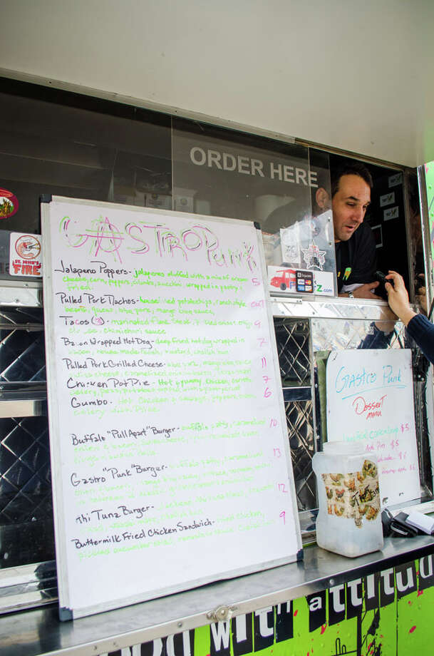 The menu for Gastro Punk Food Truck. Photo: Jamaal Ellis, For The Chronicle / ©2013 Houston Chronicle
