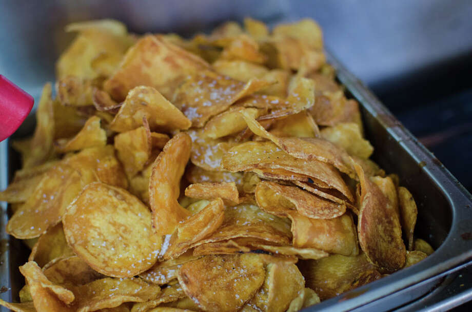 In house chips prepared by Gastro Punk Food Truck. Photo: Jamaal Ellis, For The Chronicle / ©2013 Houston Chronicle
