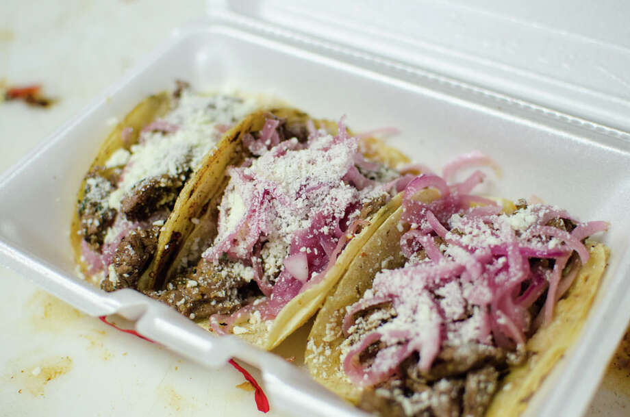 Gastro Punk Food Truck's tacos. Photo: Jamaal Ellis, For The Chronicle / ©2013 Houston Chronicle