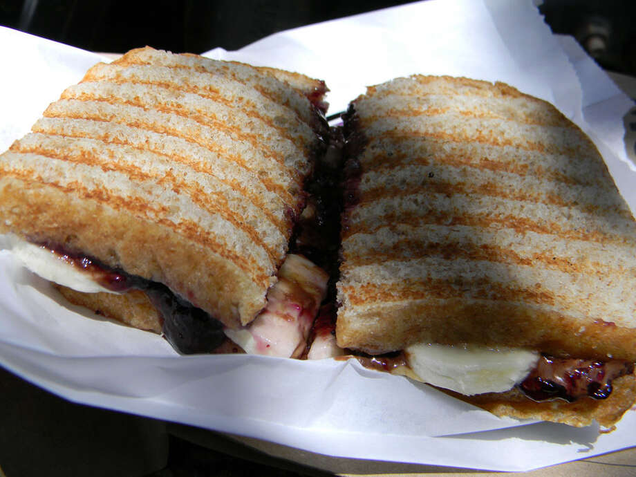 At Monster PBJ food truck, kid-pleasing peanut butter-and-jelly sandwiches are the focus. Photo: Paul Galvani, 29-95