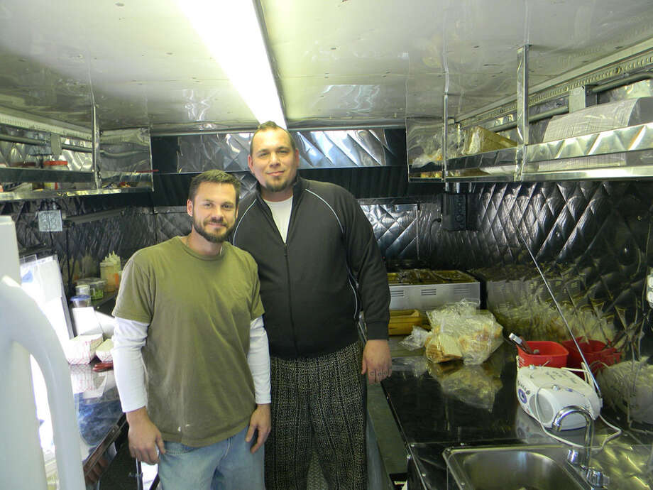 Matt Opaleski  and Jason Hill, the team behind H-Town StrEATS food truck. Photo: Paul Galvani