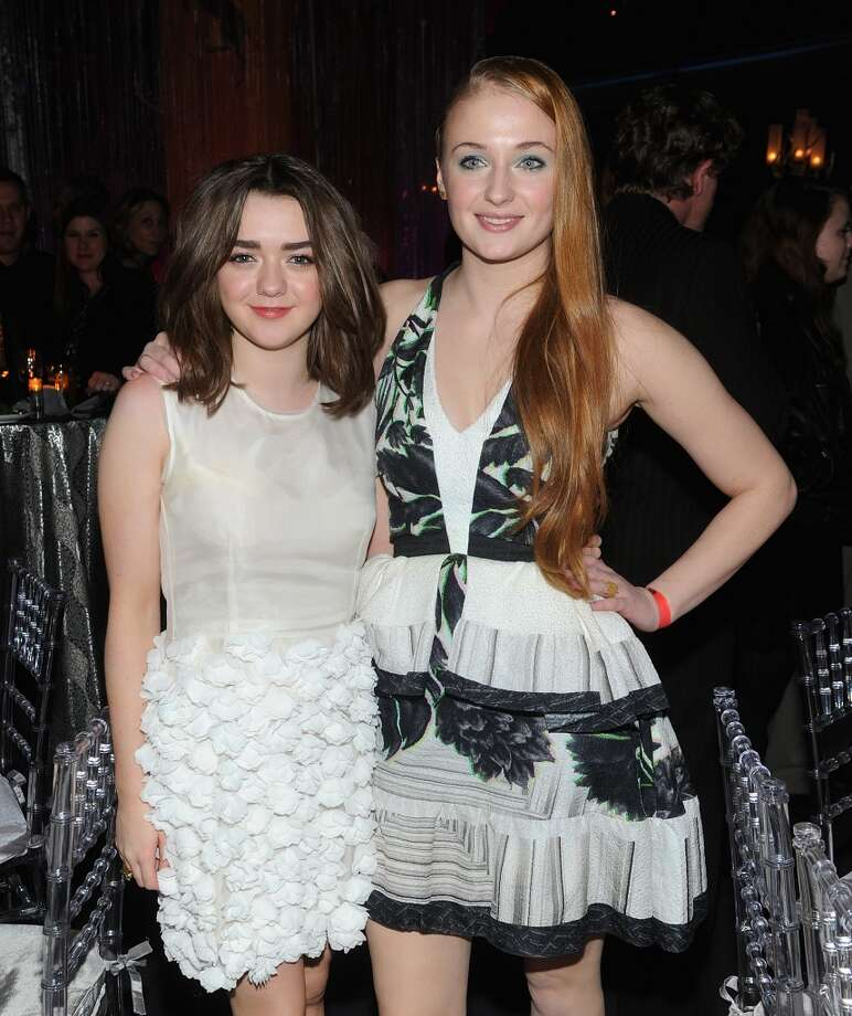 "Maisie Williams and  Sophie Turner attend ""Game Of Thrones"" Season 4 New York Premiere After Party at Avery Fisher Hall, Lincoln Center on March 18, 2014 in New York City. Photo: Jamie McCarthy, Getty Images"