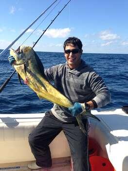 A dorado caught about 50 miles offshore. (Mike Ceballos)
