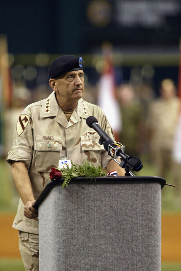 University of Texas at Arlington:12.3| Famous Alumni: Tommy Franks, Army General (pictured); John Lackey, MLB pitcher; Lou Diamond Phillips, actor; Hunter Pence, MLB outfielder Photo: Andy Lyons, Getty Images / 2002 Getty Images