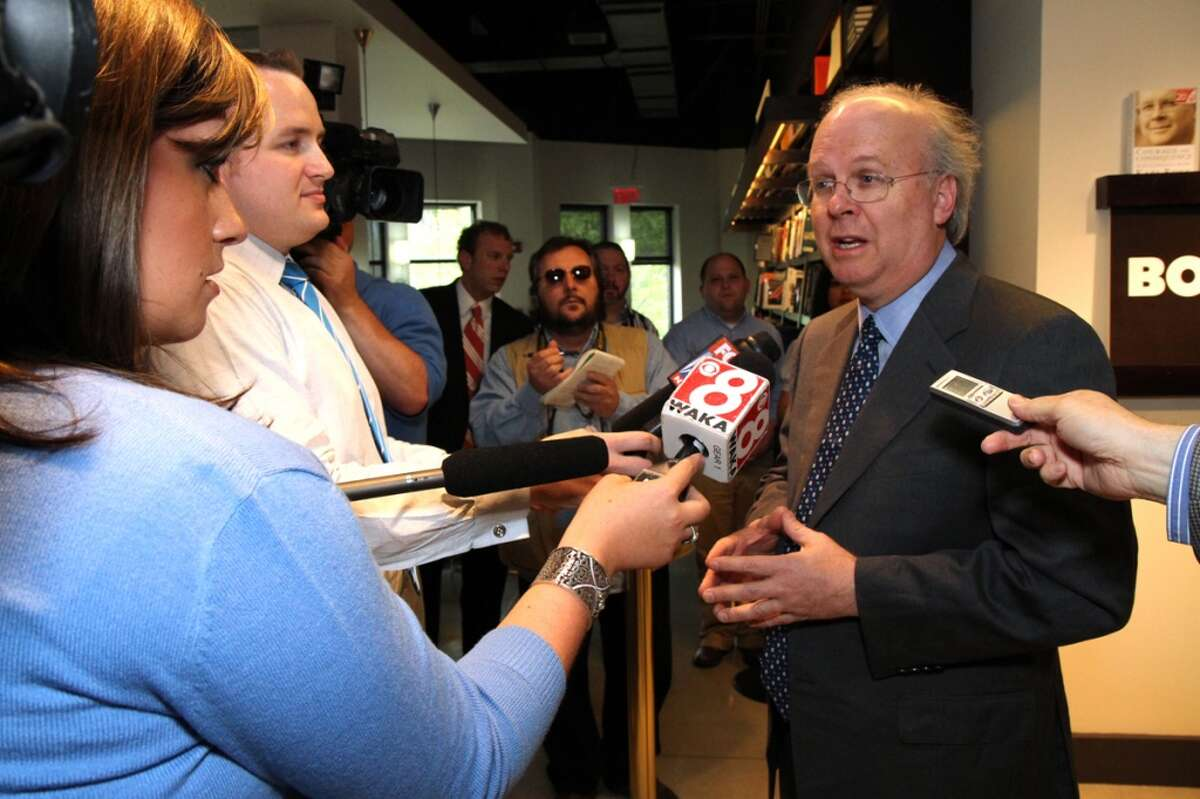 University of Texas: 177.5   Famous Alumni: Karl Rove, political consultant (pictured); Roger Clemens, MLB player; Colt McCoy, NFL player; Vince Young, NFL player