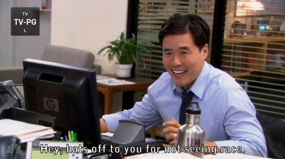 1. Asian Jim. Simple, silly, classic 'Office' even in the later seasons. Watch here: [http://bit.ly/104Or8E]