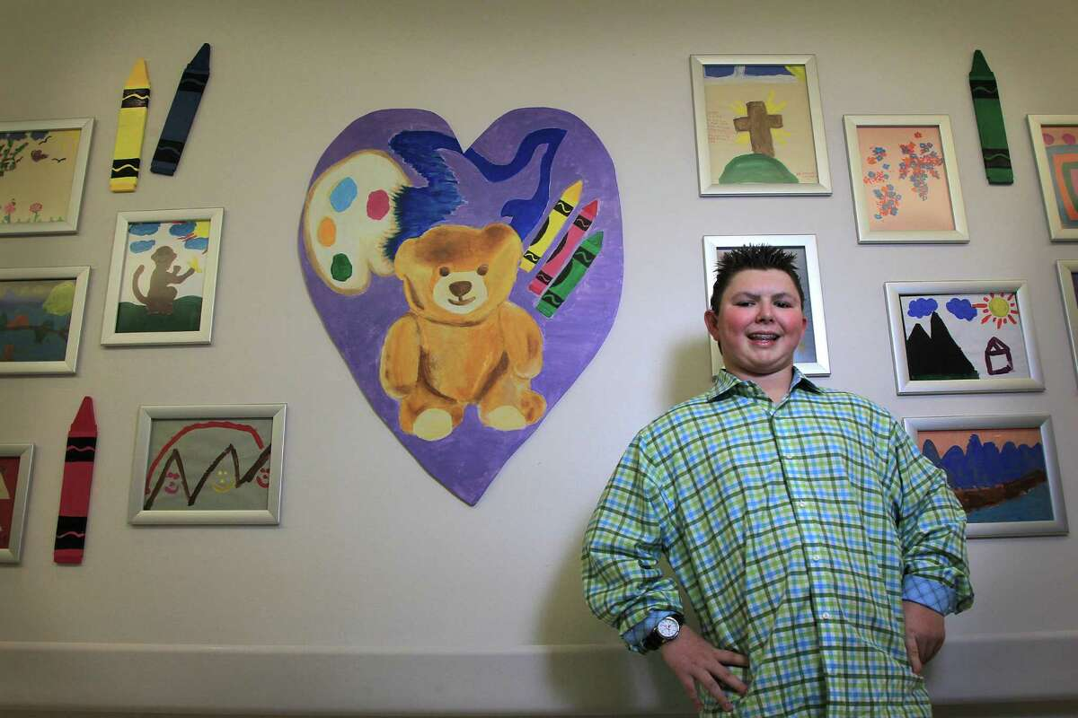 """""""When I get out of here, I want to come back and make the sick kids happy,"""" Ryan Vigeant, now 13, told his parents in the hospital when he was about 6."""