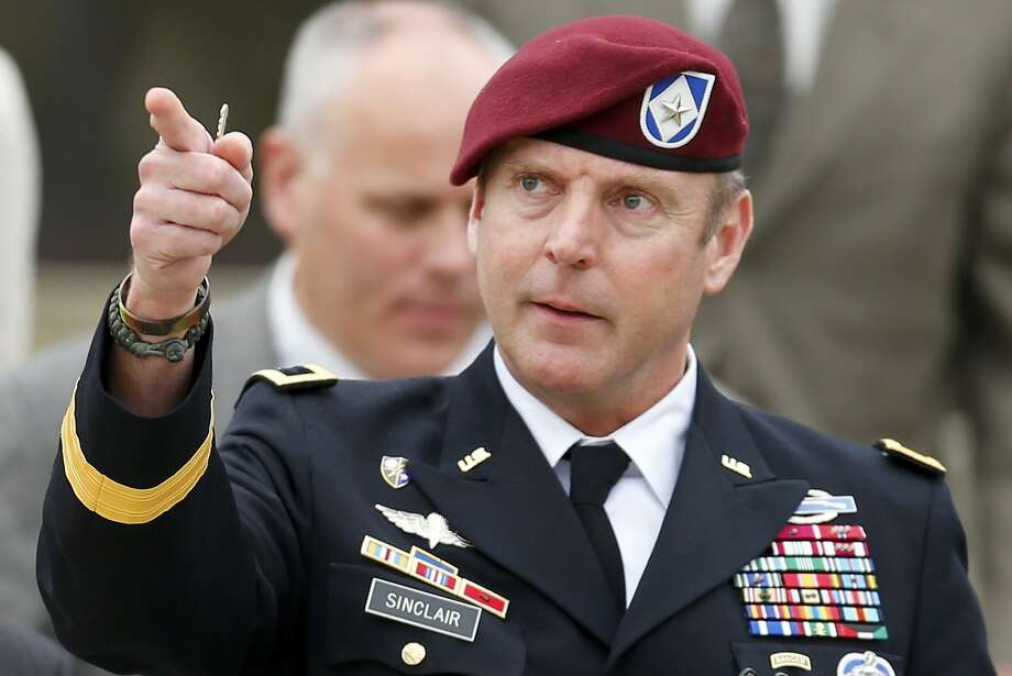 Army Brig. Gen. Jeffrey Sinclair will also have to forfeit $5,000 per month in pay for four months. Photo: Chris Keane, Reuters