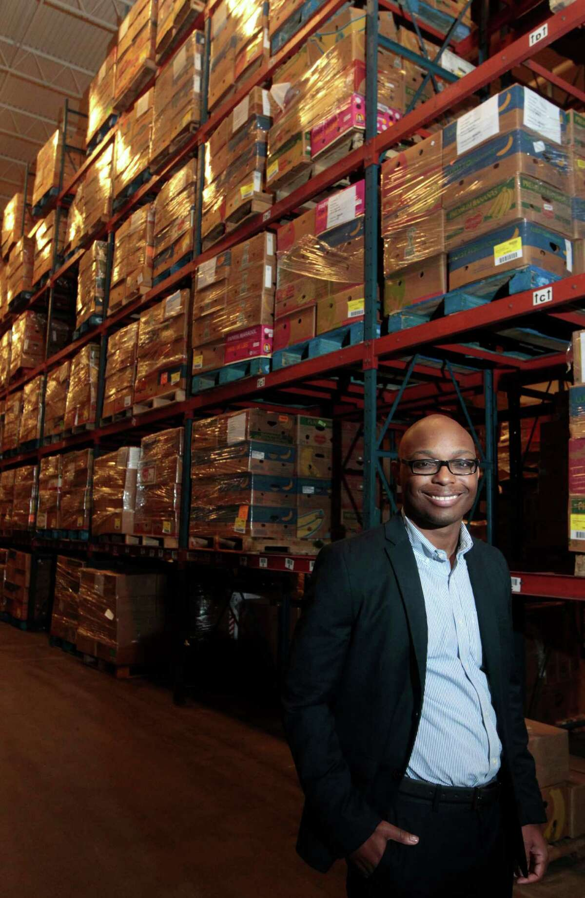 Reginald Young poses for a portrait at the Houston Food Bank on Wednesday, Feb. 26, 2014, in Houston. ( J. Patric Schneider / For the Chronicle )