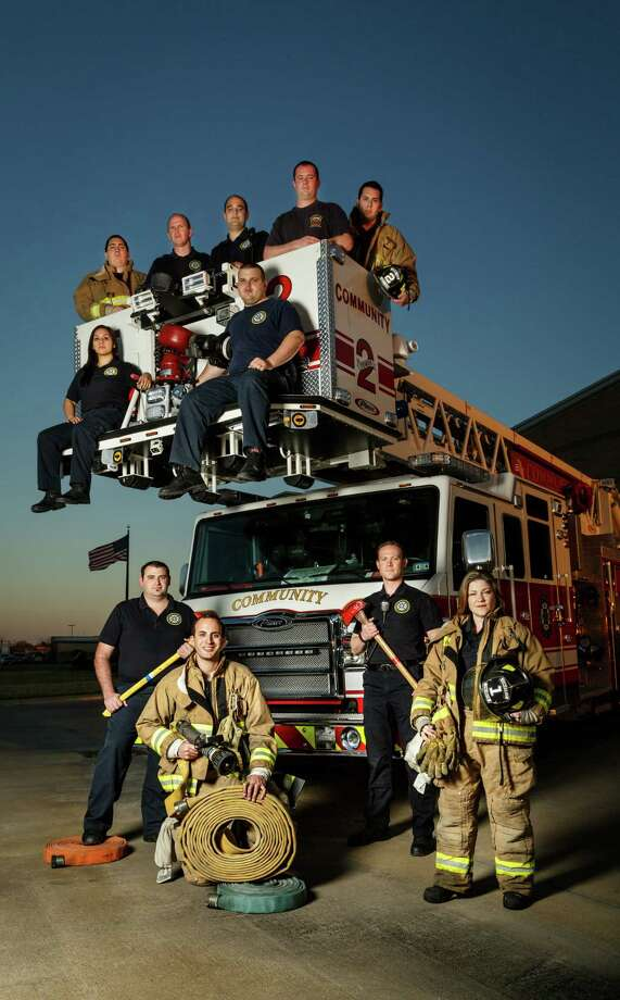 Volunteer firefighters with the Community Volunteer Fire Department serve the Alief, Mission Bend, Katy and Cinco Ranch area not covered by Harris and Fort Bend counties. Photo: Michael Paulsen, Staff / © 2014 Houston Chronicle