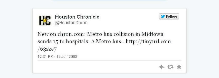 The Houston Chronicle's first tweet was automated, but we soon began talking and tweeting directly to readers.