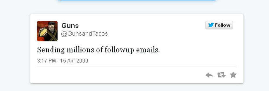 Houston's taco and firearm king began Twitter in a very unassuming manner.