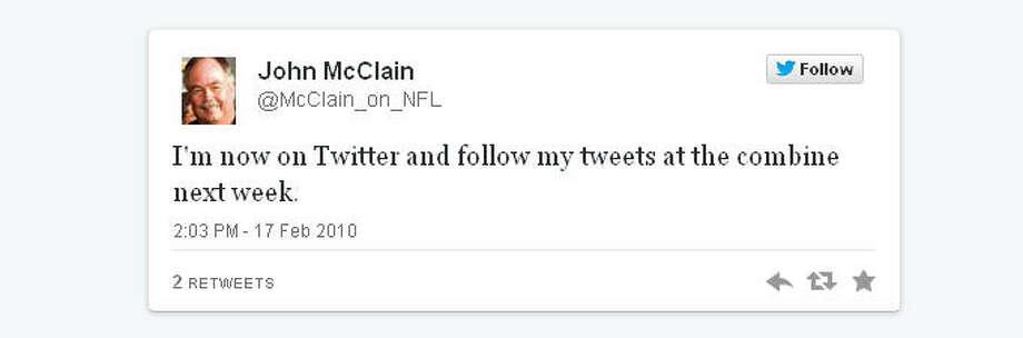 Houston Chronicle sports guru hit the ground running. @FakeJohnMcClain soon followed.