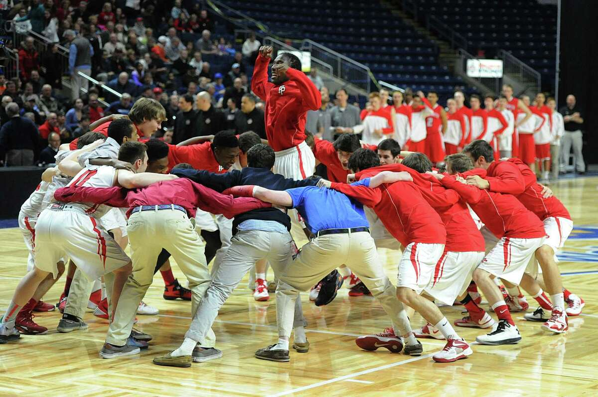 The Class LL boys basketball semi-final game between Fairfield Prep and Greenwich High School at the Webster Bank Arena in Bridgeport, Conn., Wednesday, March 19, 2014. Fairfield Prep defeated Greenwich by the score of 59-41 to advance to the final.