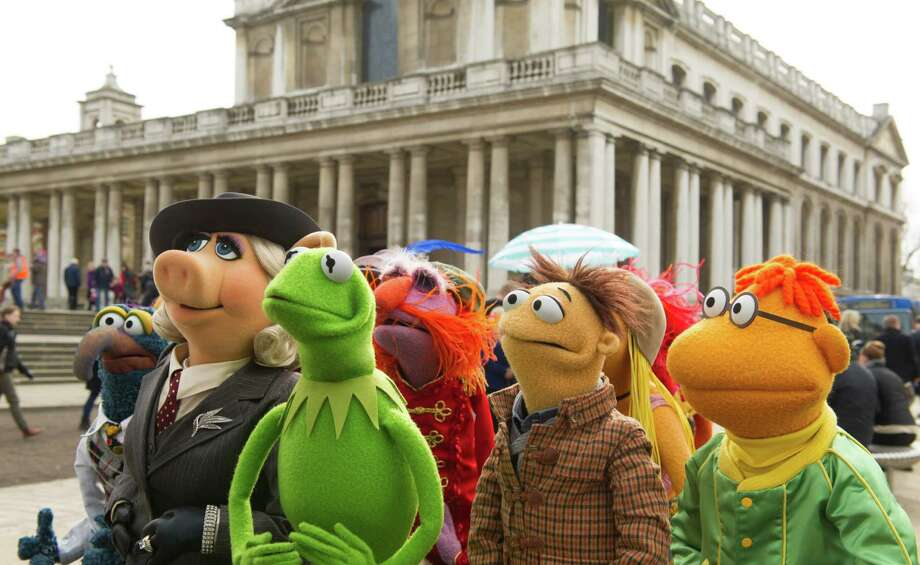 "This image released by Disney shows muppet characters, from left, Gonzo, Miss Piggy, Kermit, Floyd Walter and Scooter in a scene from ""Muppets Most Wanted."" (AP Photo/Disney Enterprises, Inc., Jay Maidment) ORG XMIT: NYET548 Photo: Jay Maidment / Disney"