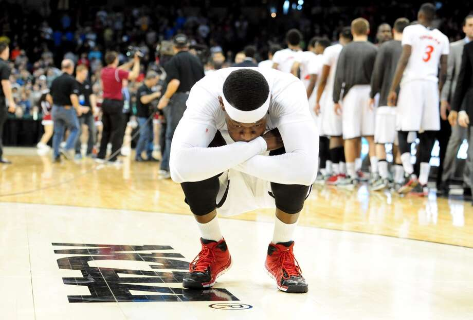 Justin Jackson reacts after the loss. Photo: Steve Dykes, Getty Images
