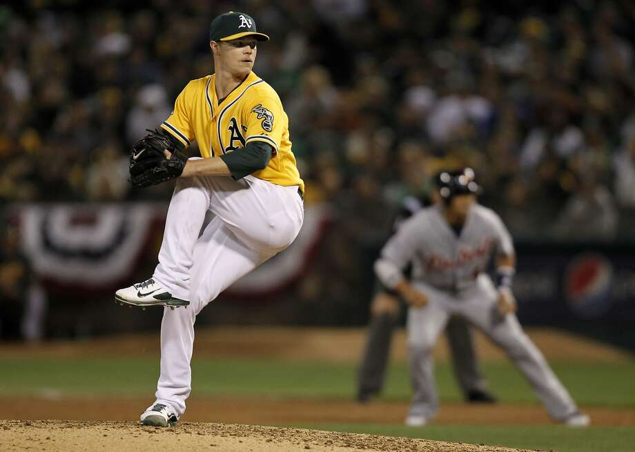 Sonny Gray, with only 10 regular-season starts on his resume, will get his 11th against Cleveland on Opening Night. Photo: Michael Macor, The Chronicle