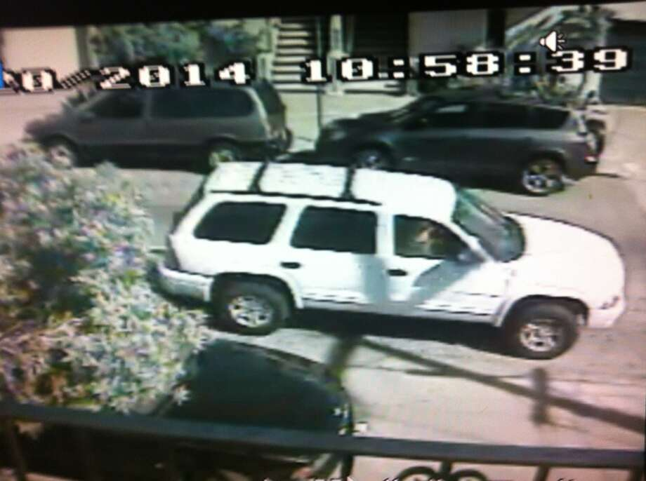 A screengrab from a video shows the SUV suspected of being involved in a fatal hit and run in San Francisco on Thursday, March 20, 2014. Photo: San Francisco Police Department