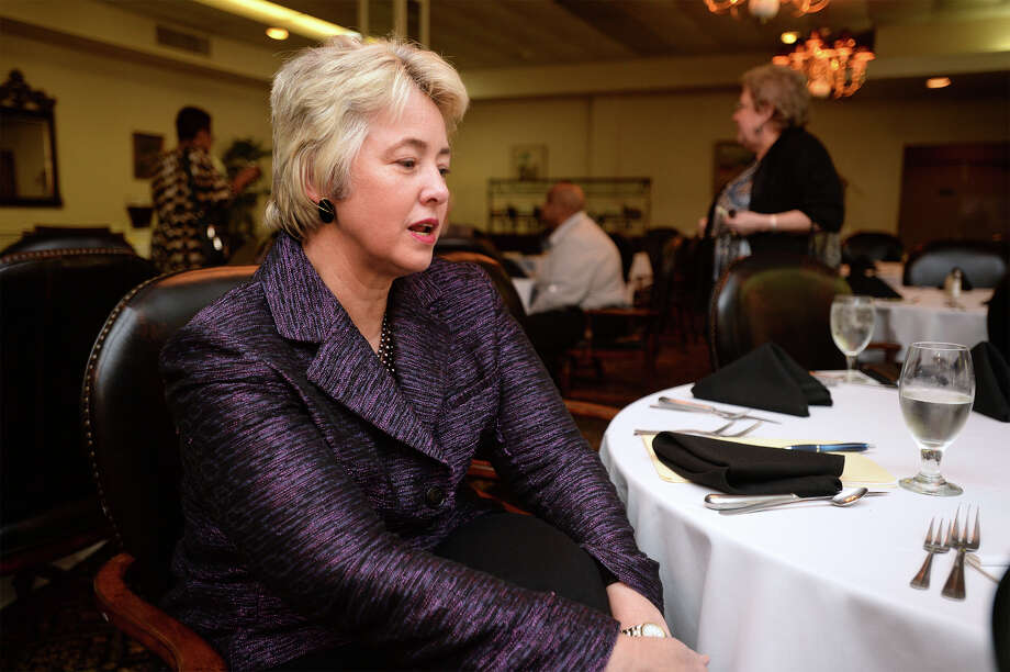 Houston Mayor Annise Parker spoke to the lesbian, gay and transgender group at the Beaumont Club Thursday night. Parker said the gay community has come a long way, but still has a way to go to be treated as equals. Photo taken Thursday, March 20, 2014 Guiseppe Barranco/@spotnewsshooter Photo: Guiseppe Barranco, Photo Editor