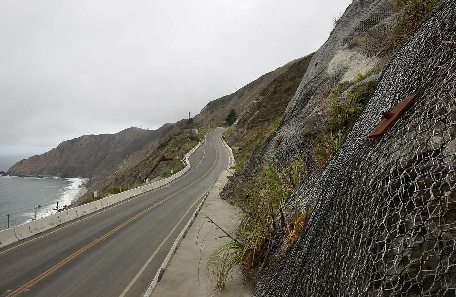 San Mateo County  will open a cliffside recreational trail along part of the 1.1-mile stretch of Highway 1 at Devil's Slide (above) made obsolete by a tunnel. Photo: Michael Macor, San Francisco Chronicle