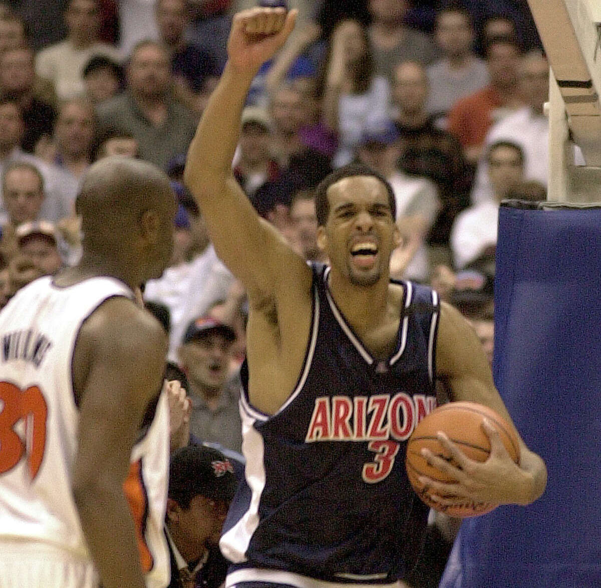2001 Midwest RegionalSemifinals: Illinois 80, Kansas 64; Arizona 66, Ole Miss 56 - As the Illini coach, Bill Self roughed up his future team, forcing a ton of turnovers and riding 30 points from Frank Williams. Richard Jefferson and Loren Woods combined to score 25 of Arizona's second-half points to overcome a sluggish start. Final: Arizona 87, Illinois 81 - The Wildcats scored 43 points on free throws, as Gilbert Arenas led Arizona with 21 points and Jefferson, the future Spurs forward, helped hold Williams in check. Attendance: Semis (29,962); final (30,212)Photo: Loren Woods and a stacked Arizona team advanced to the 2001 Final Four.