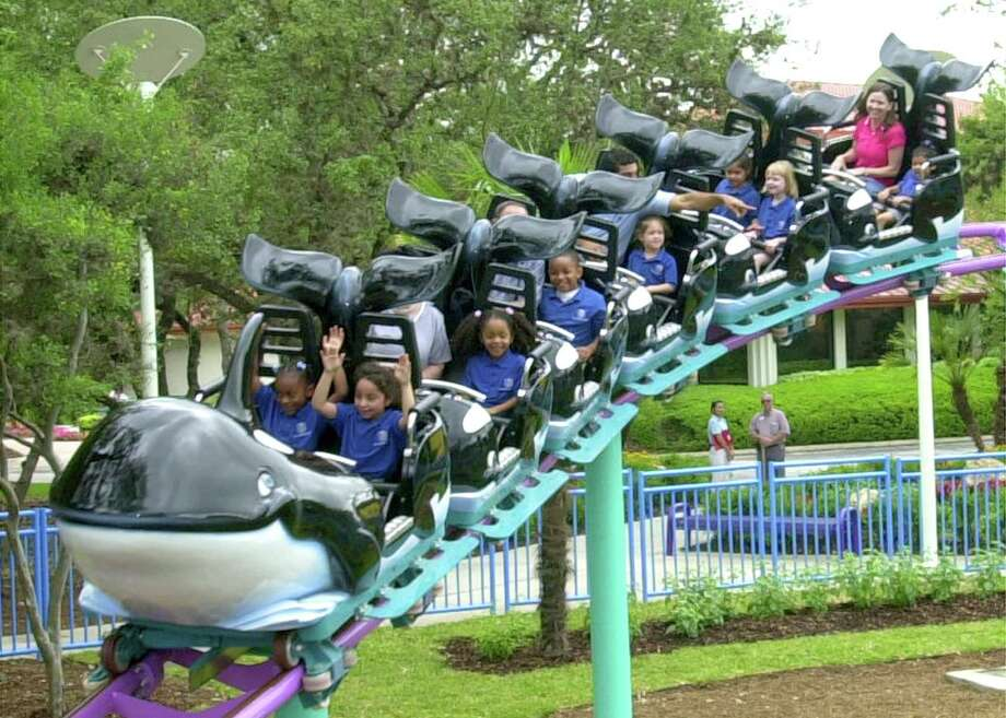 Kids ride on the Shamu Express rollercoaster at SeaWorld Photo: Courtesy Photo/SeaWorld