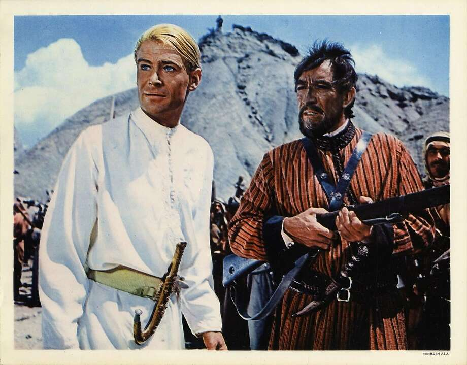 "Peter O'Toole in ""Lawrence of Arabia."" He was 9 inches taller than the real T.E. Lawrence. Photo: Columbia Pictures 1962"