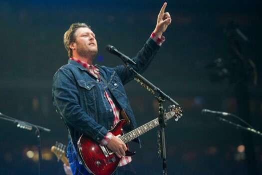 "Blake Shelton, March 20  Shelton performed new single ""Doin' What She Likes"" live for the first time, and wife Miranda Lambert joined him onstage to duet on ""Home."" Photo: Marie D. De Jesús/Houston Chronicle"