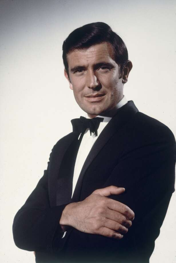 "Portrait of Australian actor George Lazenby as he poses in costume, as James Bond, for his role in the film ""On Her Majesty's Secret Service."" (1969) Although only a one-shot Bond Lazenby's classic tux with just a hint of late sixties swagger (in the form of a slightly oversized bow tie) still stands up today. Photo: Loomis Dean"