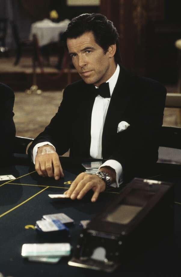 "Pierce Brosnan films a scene in the Casino de Monte Carlo, in Monaco for the James Bond film ""GoldenEye,"" 1995. Photo: Keith Hamshere, Getty Images"