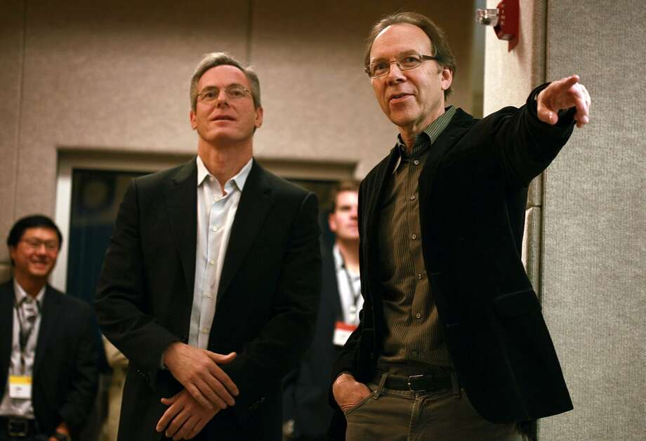 5. Paul E. Jacobs (left) Company: Qualcomm Approval rating: 95%, Note: Jacobs was chief executive at the time Glassdoor compiled its list. Current CEO Steven Mollenkopf was ineligible for this report. Photo: Liz Hafalia, The Chronicle
