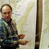 US petroleum giant Exxon Corporation shipping President Frank Iarossi comments the cleanup operation in Valdez, a week after the beginning of an oil disaster which occurred when the tanker Exxon Valdez ran aground and spilled 11 million gallons of crude oil into the waters of Prince William Sound off Alaska, near Oil Pipeline tanker terminal in Valdez Harbor.
