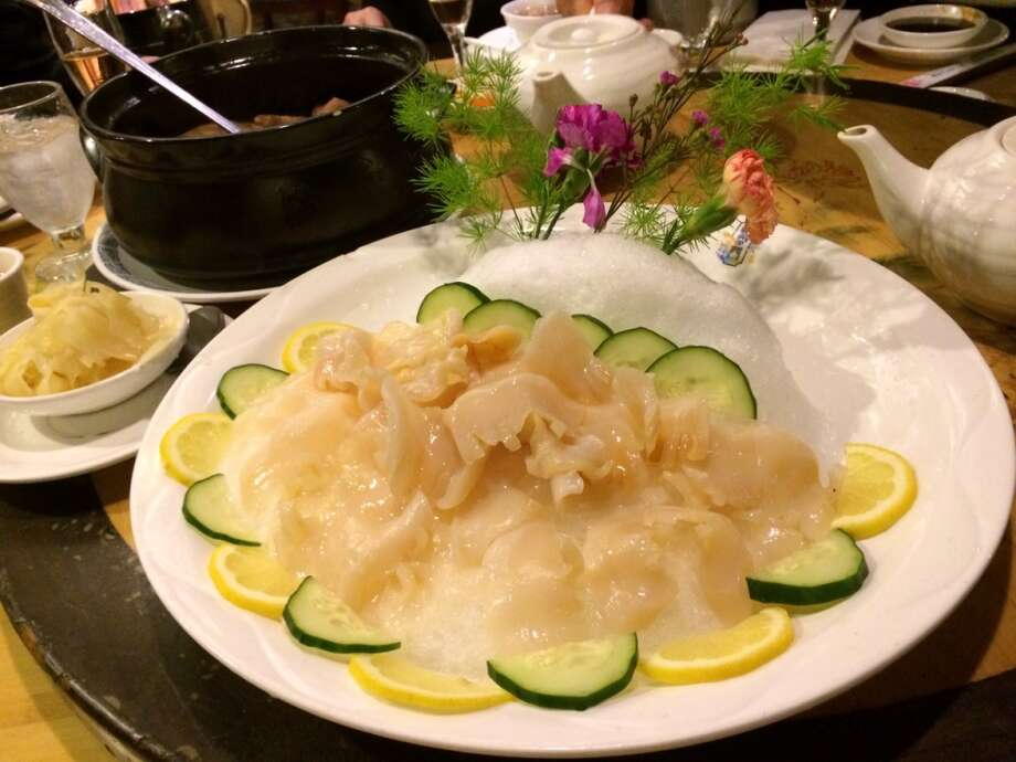 Koi Palace in Daly City: Geoduck sashimi