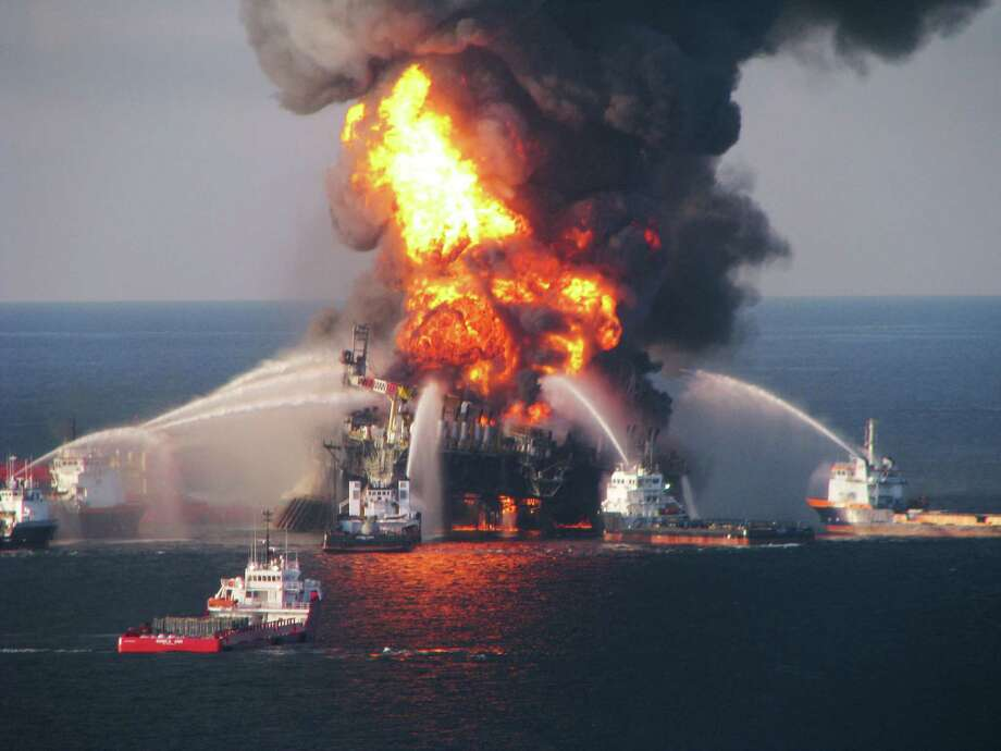An drilling accident on the Deepwater Horizon platform claimed 11 lives and led to an 87-day underwater oil-gusher which spilled 210 million gallons of oil into the Gulf of Mexico. Photo: U.S. Coast Guard, Getty Images / 2010 U.S. Coast Guard