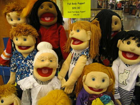 Buy a few of these puppets and see how long it takes to get kicked off the METRORail.