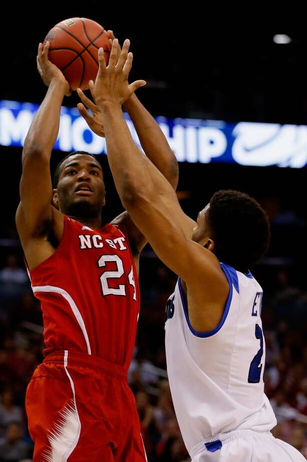 Second round March 20: No. 5 Saint Louis 83, North Carolina State 80 (OT) T.J. Warren of the Wolfpack attempts a shot against the Billikens. Photo: Kevin C. Cox, Getty Images