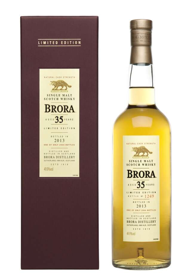 Brora 35:  Every year, they release another Brora, and every year it's one of my favorites.  It's from a distillery that no longer exists, so the supplies are slowly going.  This 35-year-old goes for around $750.