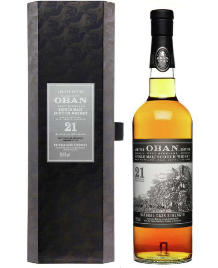 Oban 21 -- this is a Highland Scotch that splits the difference, in style, between the usual Highlands taste and the smokier island Scotches.  Not in the same league with the very best of the special releases, but a solid good entry. $440.