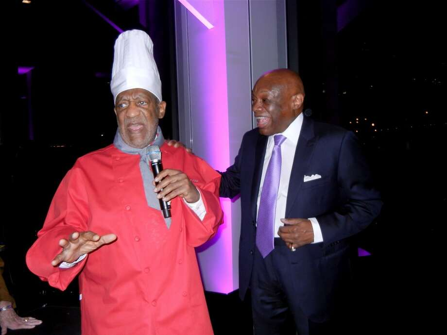 Comedian Bill Cosby surprised his good pal, Willie Brown, at Pier 24 during the former mayor's 80th birthday party. Photo: Catherine Bigelow