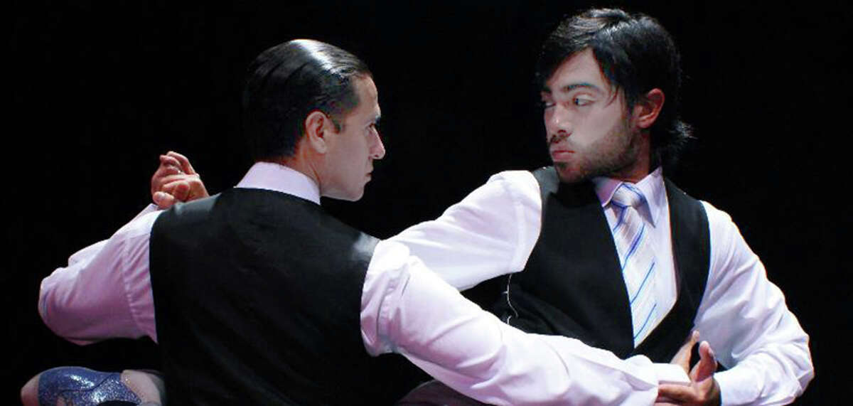A tango show takes place Saturday, March 29, in Bridgeport, featuring Walter Perez and Leonardo Sardella (with beard).