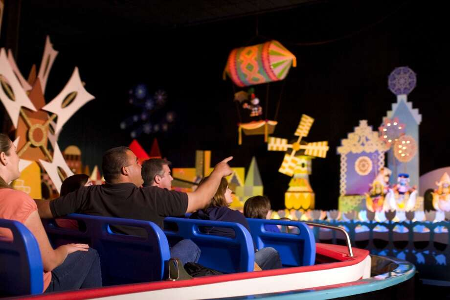 "Disney Parks is celebrating the 50th anniversary of its iconic ""it's a small world"" attraction with a global celebration that benefits UNICEF. Capturing the happy, peaceful spirit of children everywhere, the attraction, which debuted at the 1964 World's Fair, now entertains guests at five Disney theme parks worldwide. Fans around the world are invited to join the celebration at SmallWorld50.com where they may record videos of themselves singing ""it's a small world"" and create virtual dolls in the style of those from the attraction.  The celebration continues April 10, when hundreds of voices from the Disneyland Resort in California, Walt Disney World Resort in Florida, Tokyo Disney Resort in Japan, Disneyland Paris in France and Hong Kong Disneyland Resort will be united in a global sing-along. Photo: Paul Hiffmeyer"