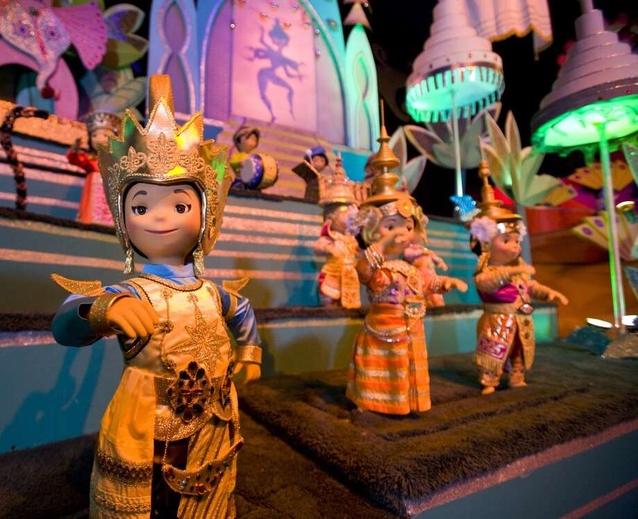 Classic scenes, such as Asia, inside 'it's a small world' at Disneyland park, shine brighter than ever as the classic Disney Parks attraction, which debuted at the 1964 World's Fair, celebrates its 50th anniversary this year. Photo: Paul Hiffmeyer