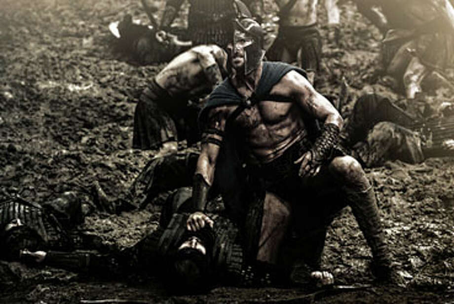 """In """"300: Rise of an Empire,"""" the saga pits Greek general Themistocles against attacking Persian forces, ruled by glistening God-King Xerxes. Photo: Contributed Photo, Contributed / New Canaan News"""