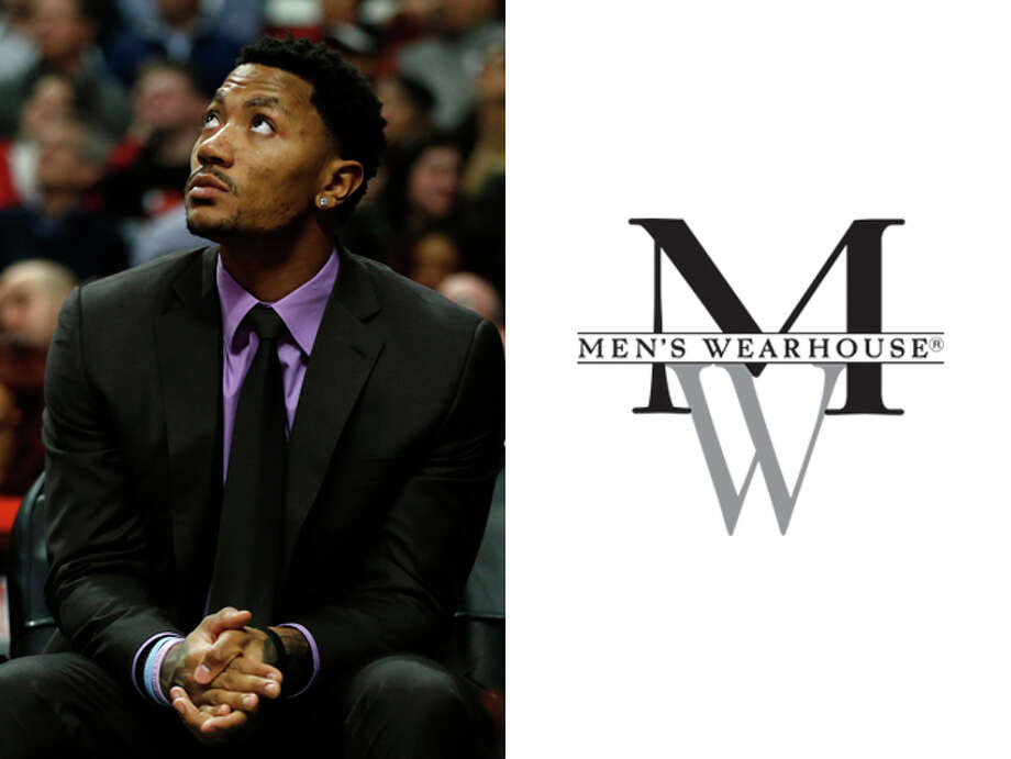 Chicago Bulls / Men's Wearhouse:Because the only time you ever see Derrick Rose anymore, he's on the sideline in a suit instead of on the court in a jersey. Photo: Andrew Nelles, AP / FR170974 AP