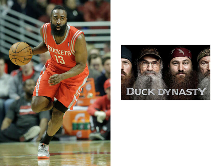 Houston Rockets / Duck Dynasty:We're not convinced that James Harden isn't a lost member of the Robertson family. Photo: Nam Y. Huh, AP / AP