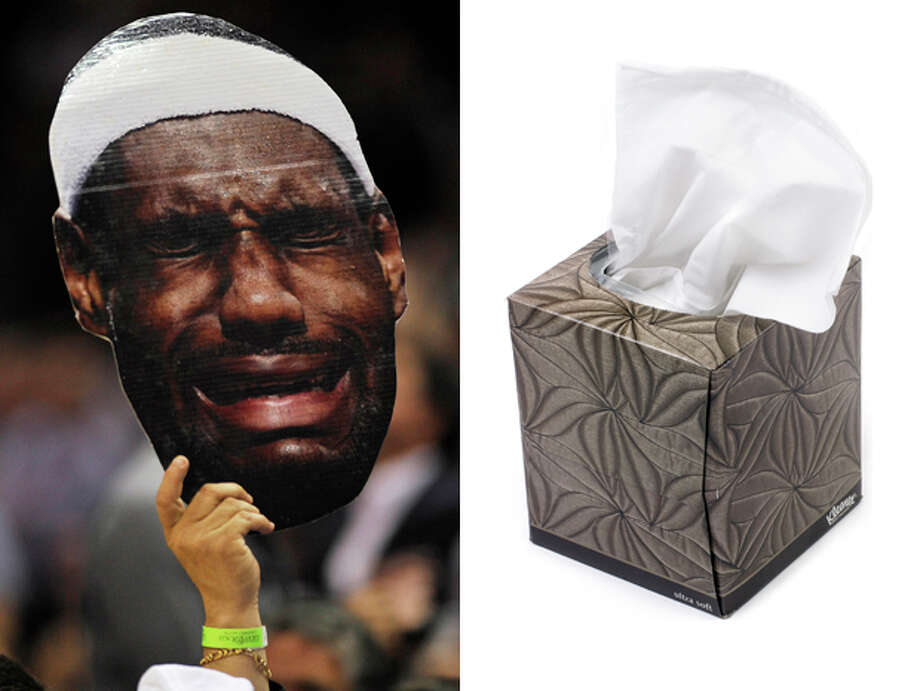 Miami Heat / Kleenex Tissues:Something to wipe their faces with during all of that post-flop crying to officials. Photo: Darren Abate, AP / FR115 AP